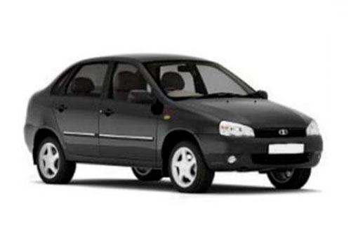 Черная Лада Калина 1 седан (Lada Kalina 1 sedan) фото