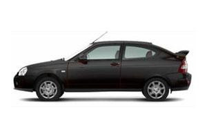Черная Лада Приора купе (Lada Priora Coupe) фото