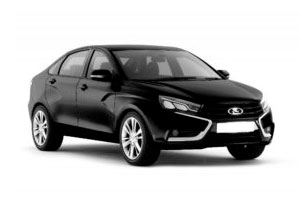Черная Лада Веста седан (Lada Vesta Sedan) фото